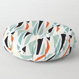 Mid Century Modern Colorful Abstract Square Shapes Pattern Floor Pillow