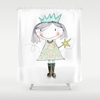 fairy Shower Curtains featuring Fairy by Little Ell