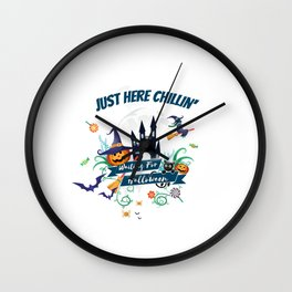 Just Here Chillin Wall Clock