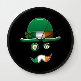 Irish Flag Face. Wall Clock