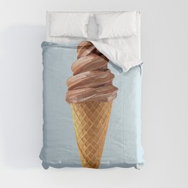 Soft Serve Icecream Chocolate Cone Comforters