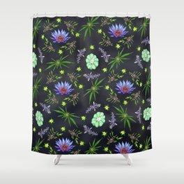 Smokeable Hallucinogenic Plants Pattern Shower Curtain