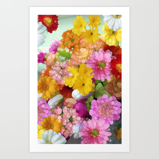 May the Flowers Be With You Art Print
