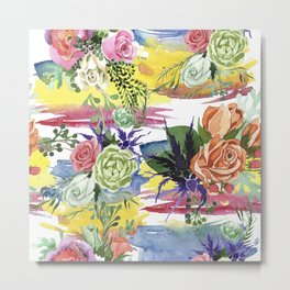 Sea ​​Flowerpower Metal Print