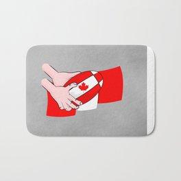 Canada Rugby Flag Bath Mat
