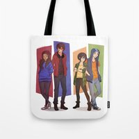 zuko Tote Bags featuring MODERN GAANG by Nymre