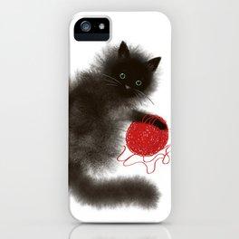 Mischievous cat iPhone Case
