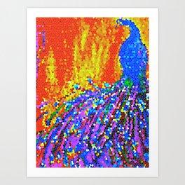 Peacock Glory Abstract Art Print
