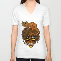 jojo V-neck T-shirts featuring Congo JoJo by BohemianBound