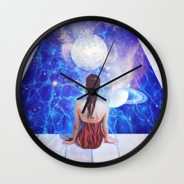 The moon Plunge Wall Clock