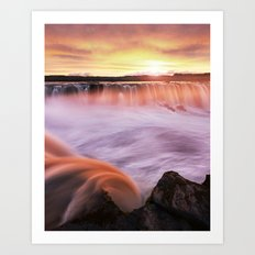 Selfoss sunset Art Print