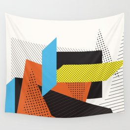 Memphis Throwback Retro 1980s 80s Trendy Hipster Bright Shapes Pattern Eighties Wall Tapestry