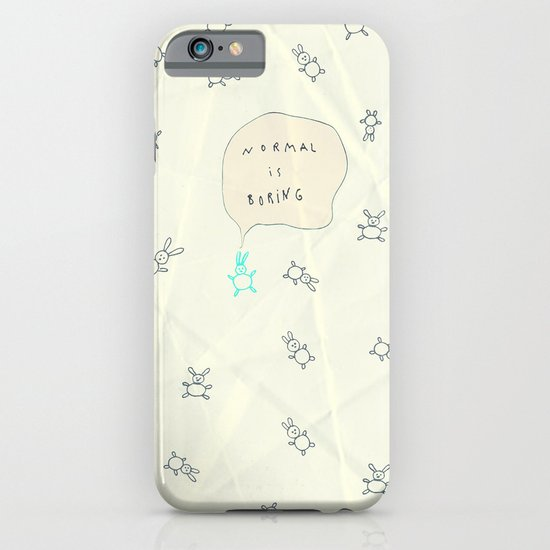 NORMAL IS BORING iPhone & iPod Case