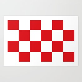 Flag of North Brabant Art Print