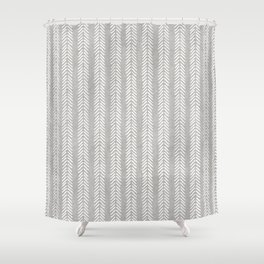 Mud cloth - Grey Arrowheads Shower Curtain