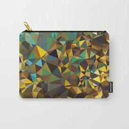 Goldish triangulated abstraction Carry-All Pouch
