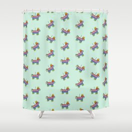 Pinata Party | Mint Shower Curtain