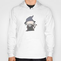 gandalf Hoodies featuring Gandalf by Justin Temporal