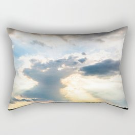 Very cloudy sky after a storm along the coast of the Adriatic sea in spring Rectangular Pillow