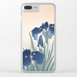 Irises, Ohara Koson, 1925 Clear iPhone Case