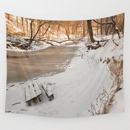Rock Creek Winter Wall Tapestry