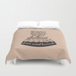 Little Black Dress Duvet Cover