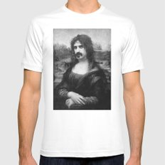 Mona Zappa White Mens Fitted Tee MEDIUM
