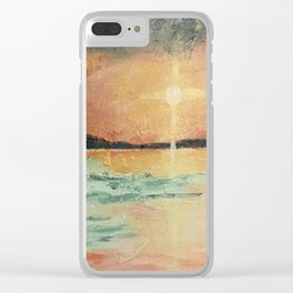 Amy's Sunset - Beach Painting Clear iPhone Case