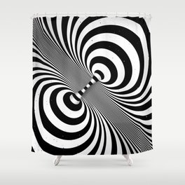Dualism (black & white) Shower Curtain