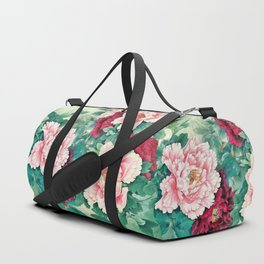 Light pink and purple peonies Duffle Bag