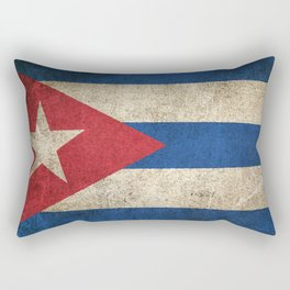 Old and Worn Distressed Vintage Flag of Cuba Rectangular Pillow