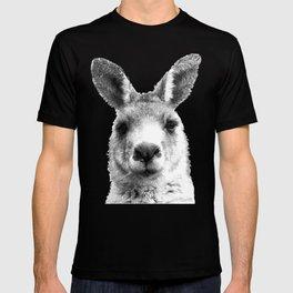 Black and white kangaroo T-shirt