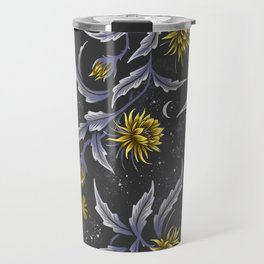 Queen of the Night - Grey Yellow Travel Mug