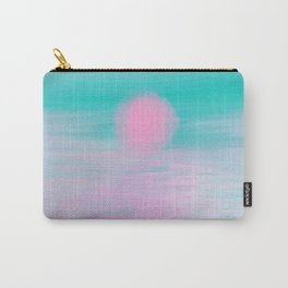 Abstract lavender teal pink watercolor sunset Carry-All Pouch