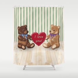 I Love You Beary Much! Shower Curtain