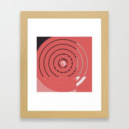 Red abstract geometrical Framed Art Print