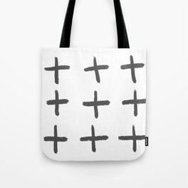 Cross Plus You and Me Equals Love Tote Bag