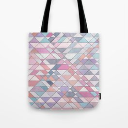 Triangle Pattern no.25 Light Pink Tote Bag