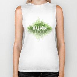 Blind River Trees (green) Biker Tank