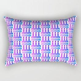 Purple pink blue happy birthday cake print Rectangular Pillow