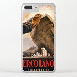 Ercolano Naples Italian art deco ad Clear iPhone Case