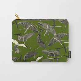 just whales green Carry-All Pouch