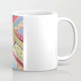Rise and Shine - Rainbow Hued, Multi-Colored Doodle Coffee Mug