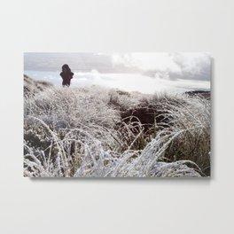 Morning Hike Dew, New Zealand Metal Print