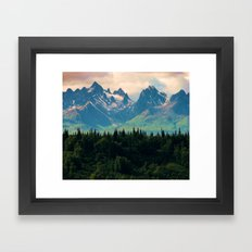 Escaping from woodland heights Framed Art Print