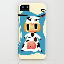 Mooo Lan The Cowardly Cow iPhone Case