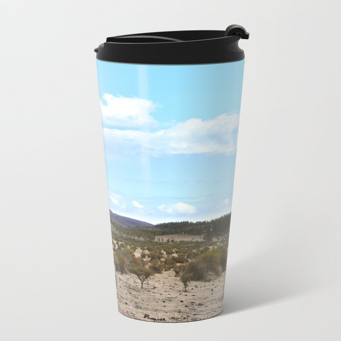 Landscape & Blue Sky Metal Travel Mug