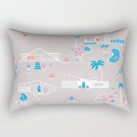 Desert Mid-Century Modern Rectangular Pillow