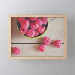 there's something about the red of a raspberry ... Framed Mini Art Print