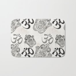 Hamsa Yoga Pattern Bath Mat